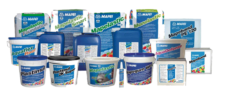 Waterproofing Products Malaysia Brands Sika Pentens Basf